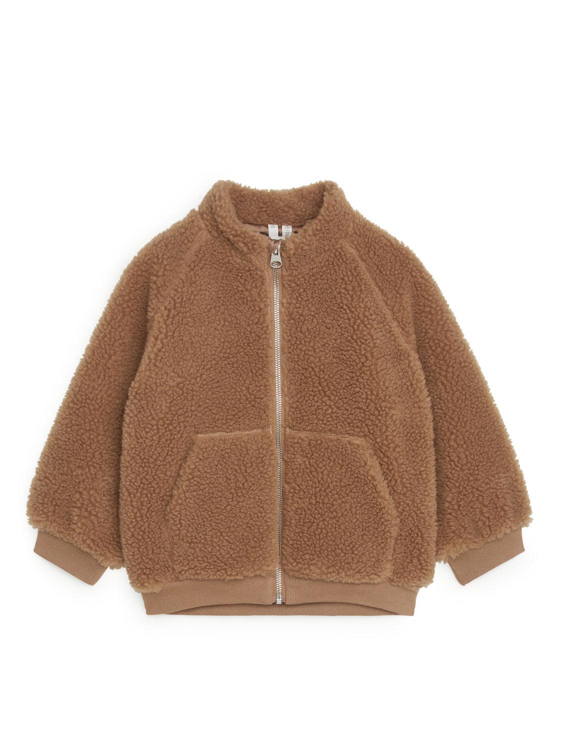 Brown pile jacket