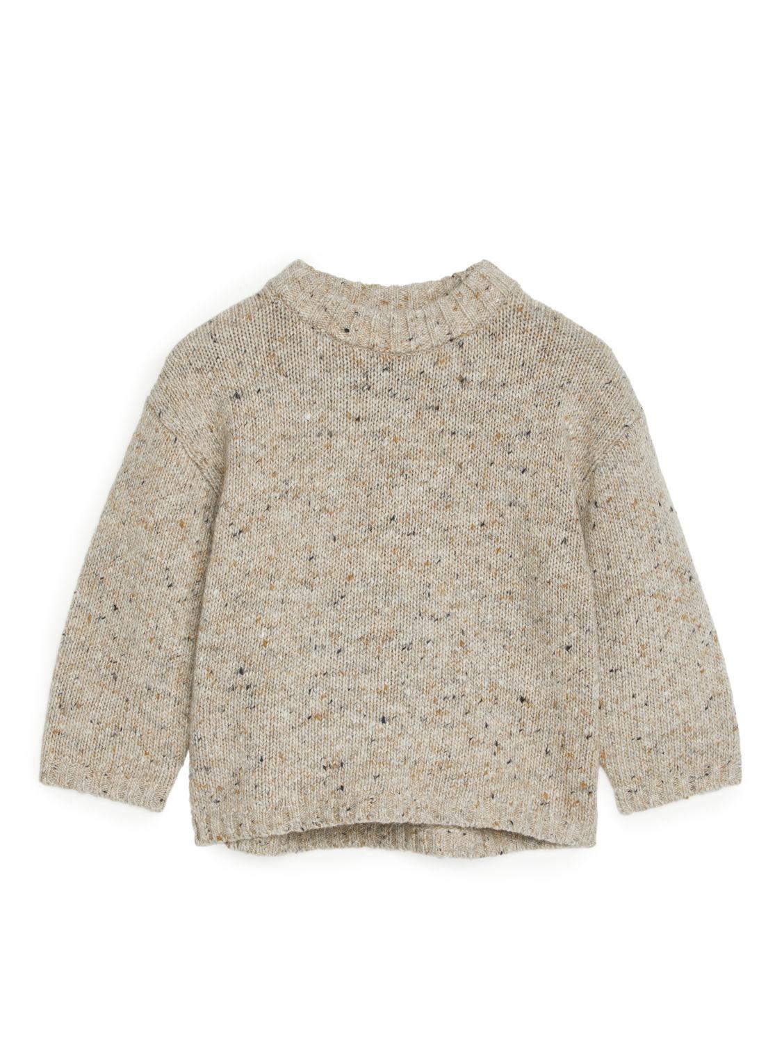 Beige wool jumper