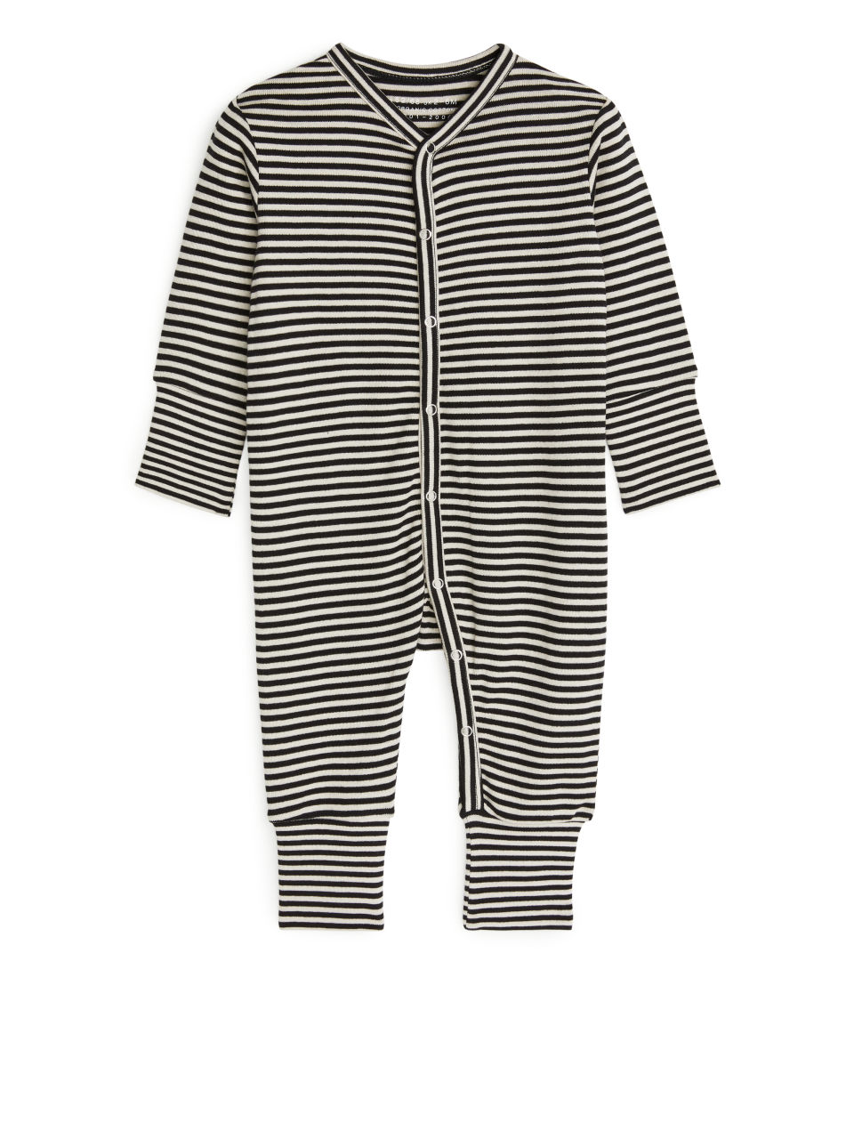 Black striped sleepsuit