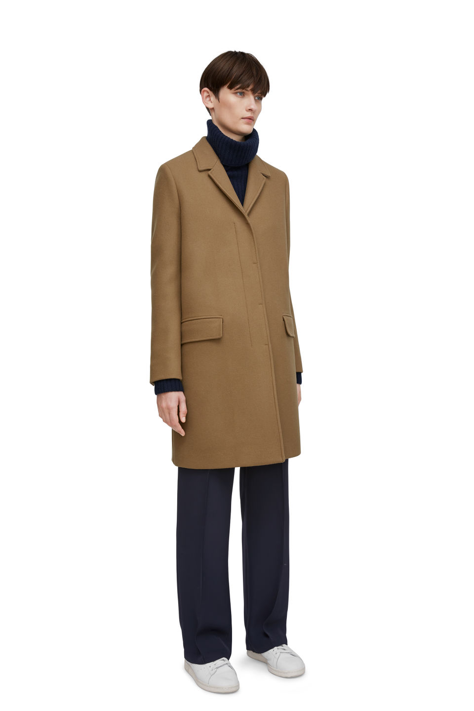 265117312 Arket camel wool coat ...