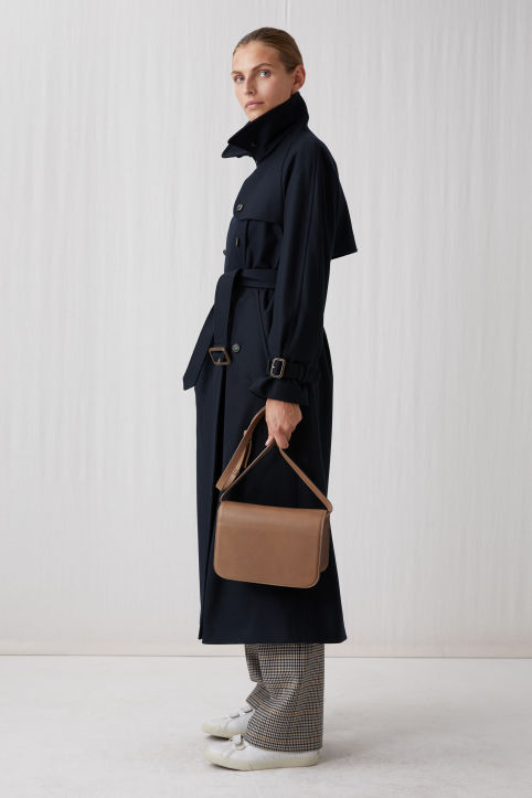 Long Wool Trench Coat