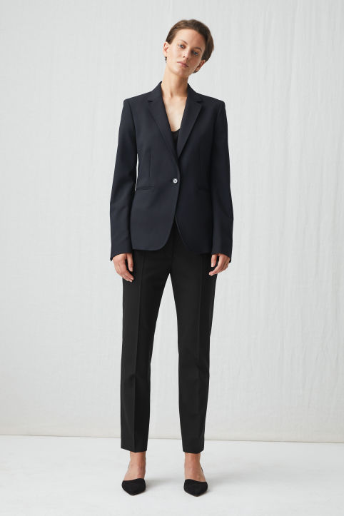 Slim Wool Twill Trousers