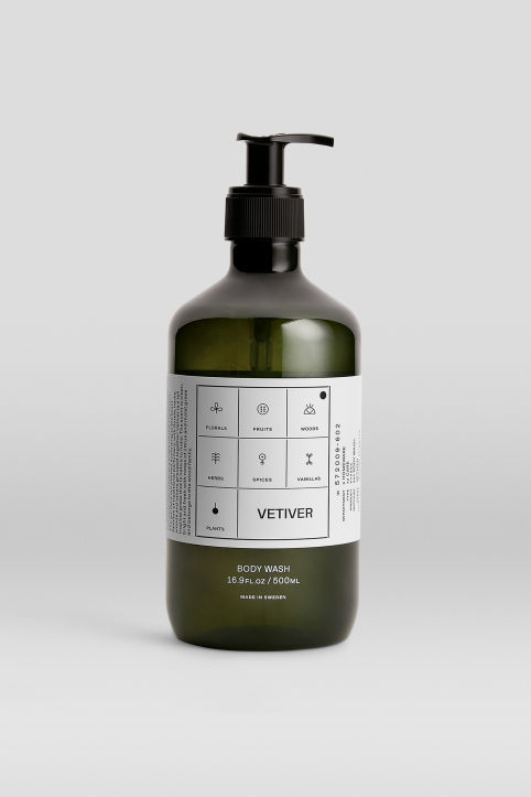 Body Wash Vetiver, 500 ml