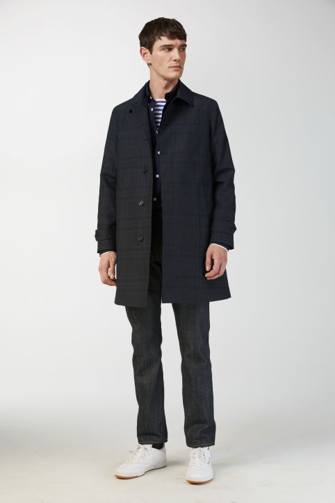 Technical Hopsack Topcoat