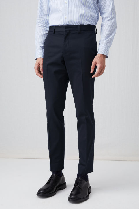 Tailored Cotton Trousers, Slim