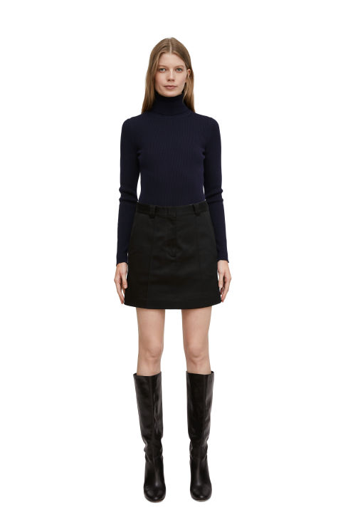 Stretch-Twill Mini Skirt