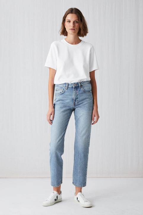 Cropped Rigid Vintage Jeans