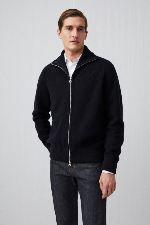 Raw Wool™ Zip Cardigan
