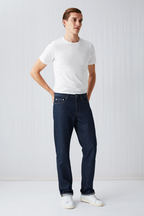 Loose Rinsed Wash Jeans