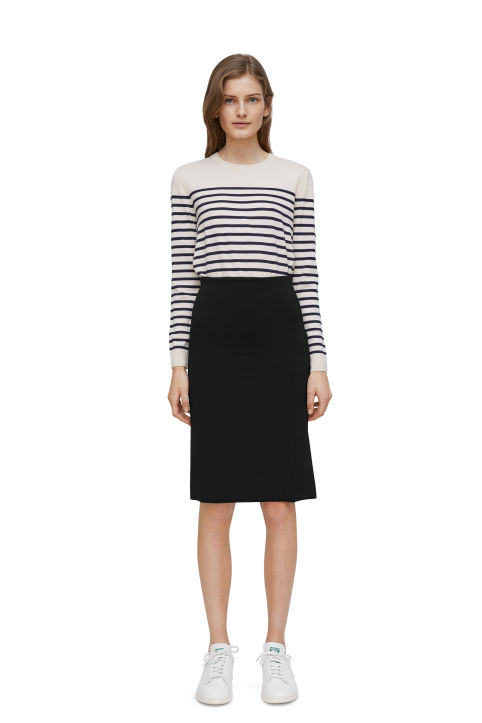Milano-Knit Pencil Skirt