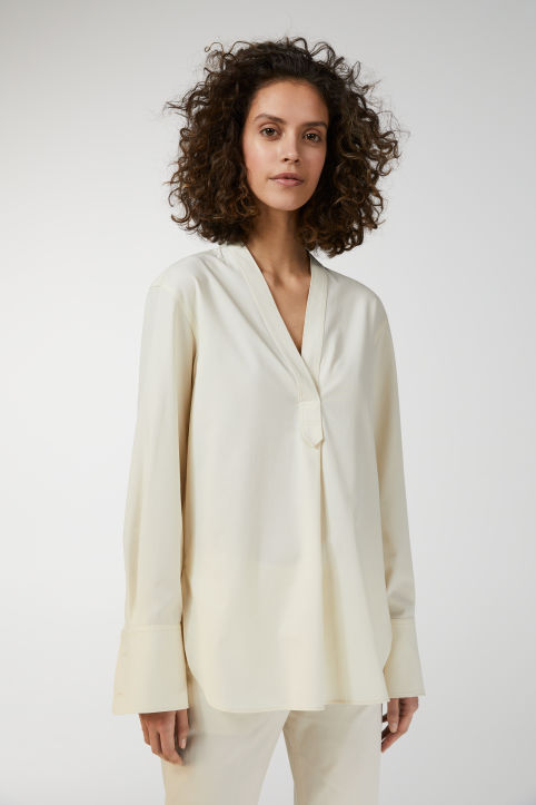 Cotton Stretch Tunic Shirt
