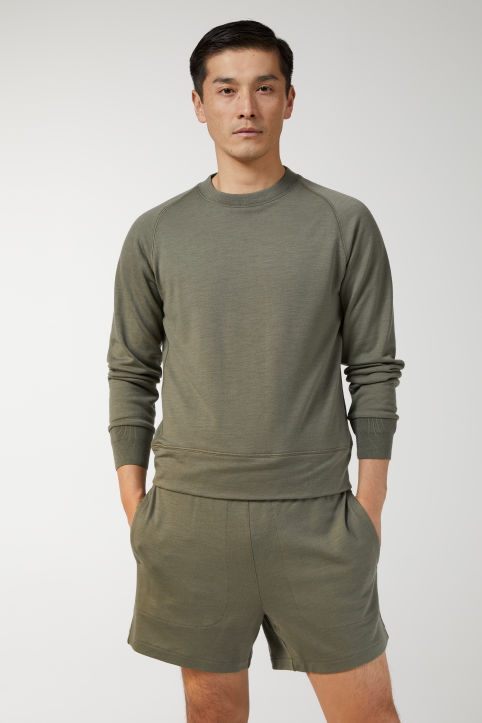 French Terry Merino Sweatshirt