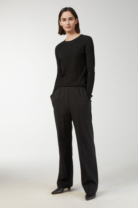 Cupro Stretch Trousers