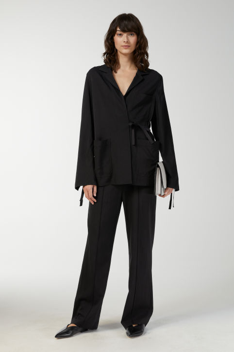 Cupro Stretch Blazer
