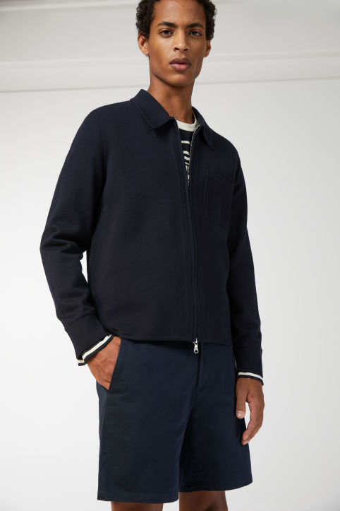 Pima Cotton Knitted Zip-Up