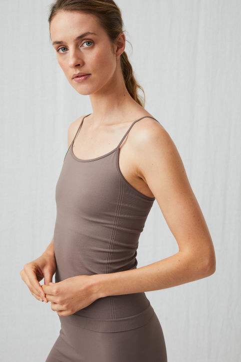 Seamless Yoga Strap Top