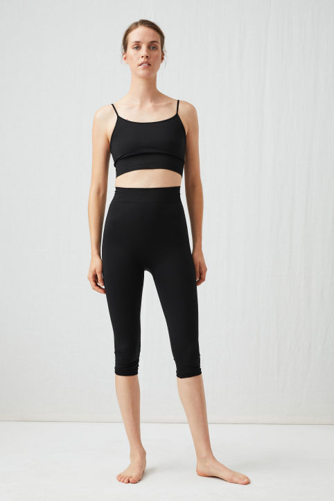 Seamless Cropped Yoga Tights