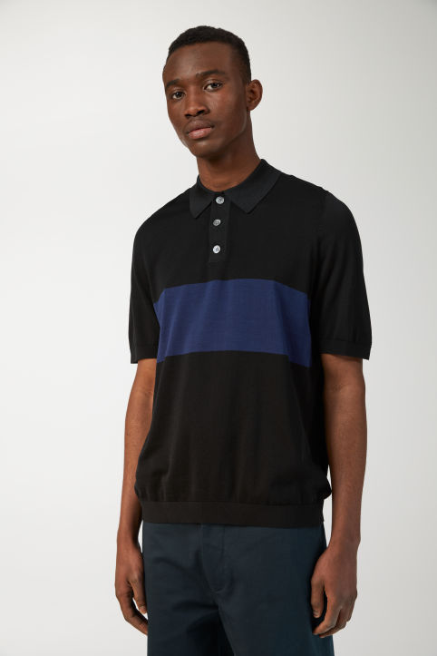 Cotton Silk Polo Shirt