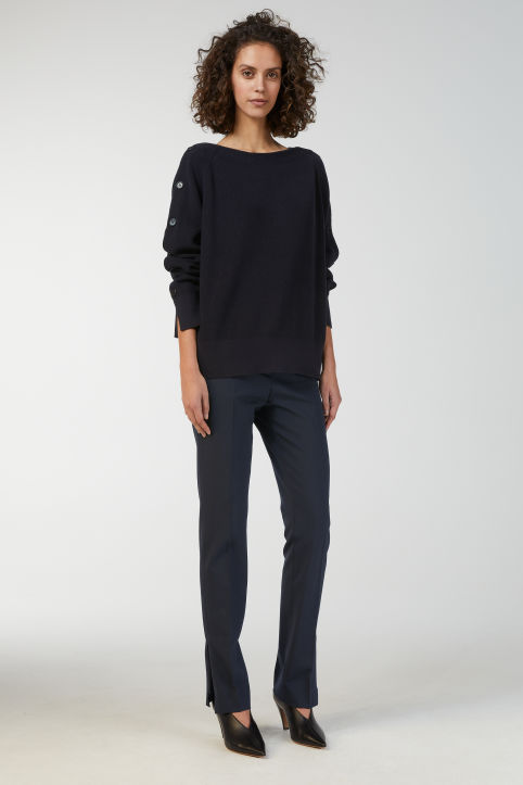 Cotton Boat-Neck Jumper