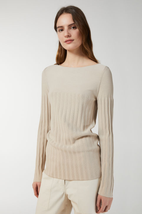Viscose Blend Boat-Neck Jumper
