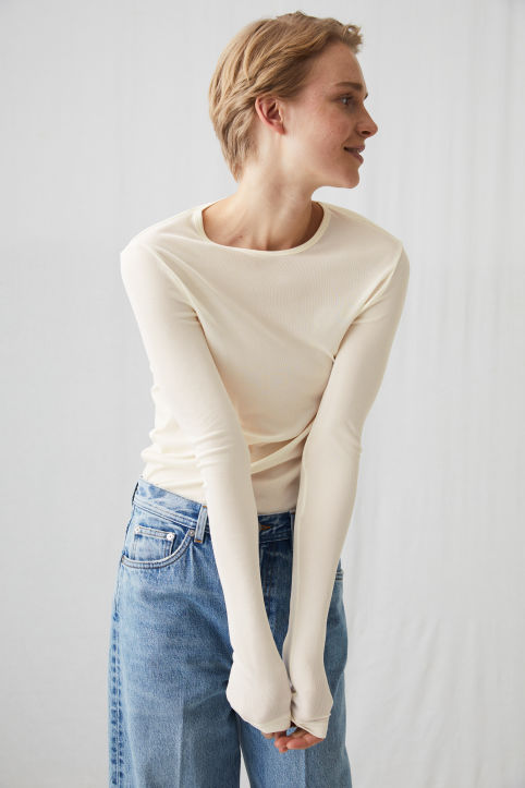 Silk Rib Long Sleeve