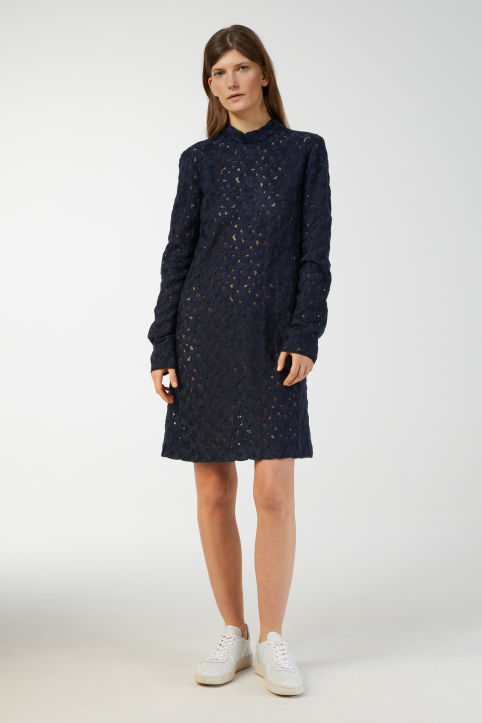Wool Embroidered Dress