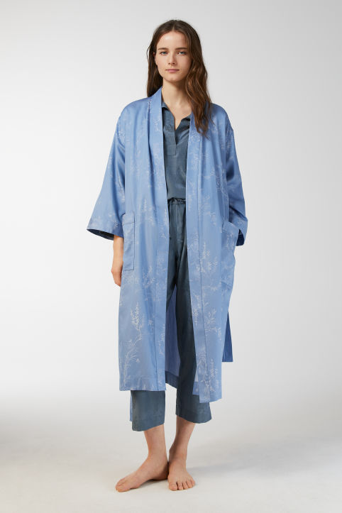 Cotton Jacquard Robe