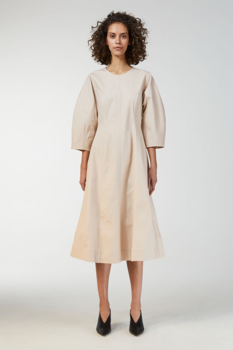 Cotton Twill Panel Dress