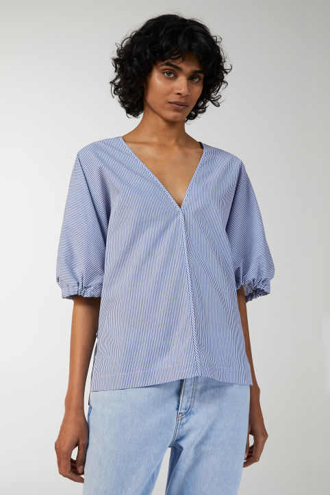 V-Neck Boxy Blouse