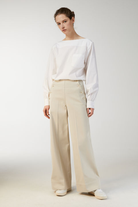 Cotton Twill Sailor Trousers