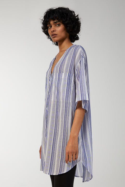Striped Lyocell Tunic