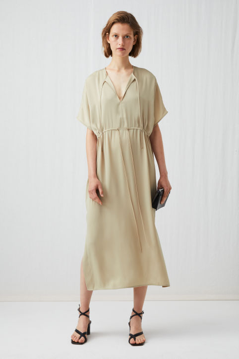 Relaxed Drawstring Dress