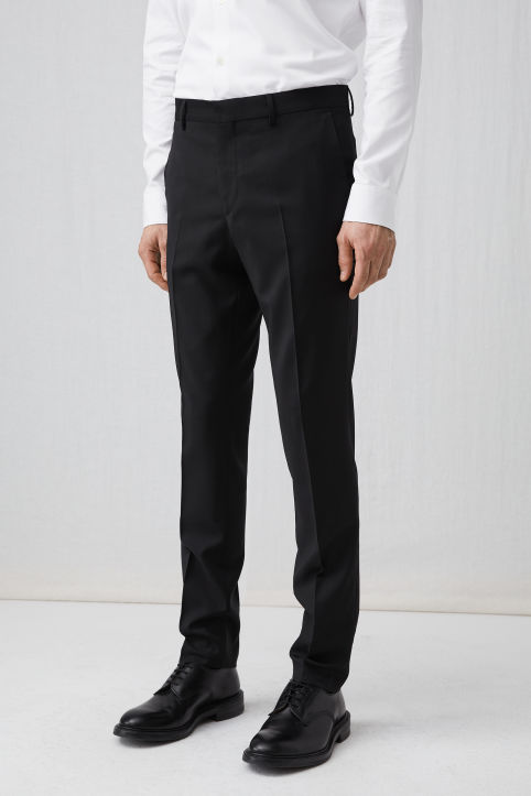 Tailored Wool Trousers, Slim