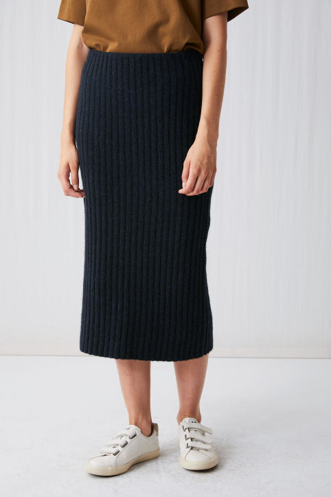 Knitted Wool Blend Skirt