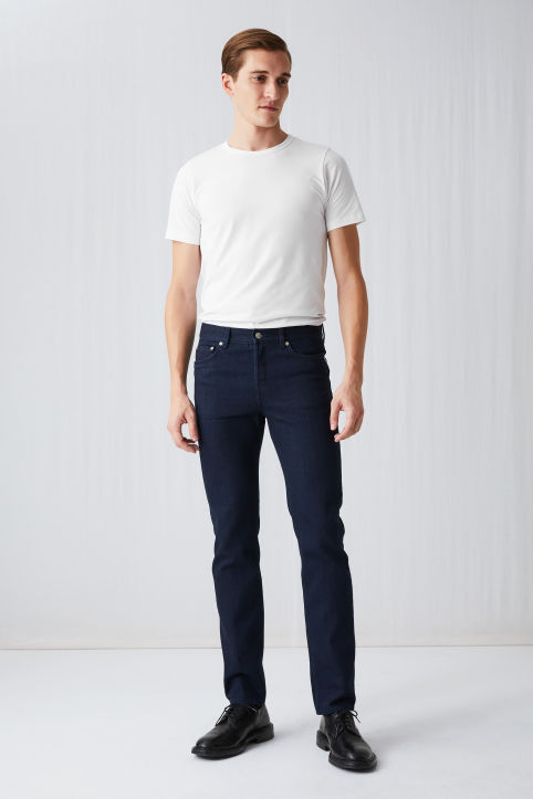 Regular Indigo-on-Indigo Jeans