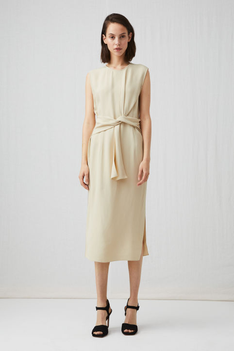 Crepe Knot Dress