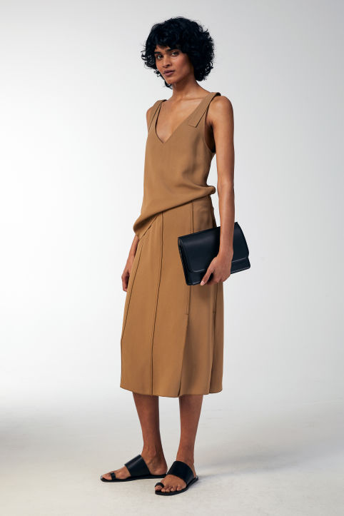 Fluid Crepe Skirt