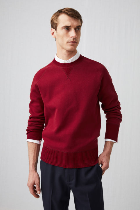 Double-Knit Cotton Patch Jumper