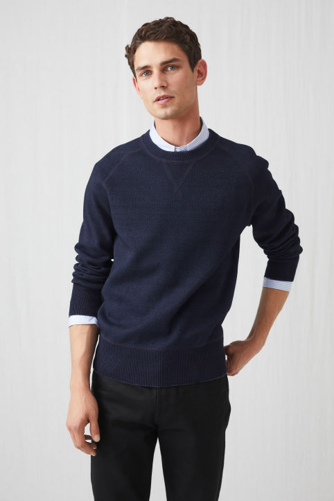 Double-Knit Indigo Jumper