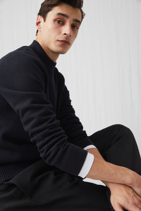 Raw Wool™ Mock-Neck Jumper