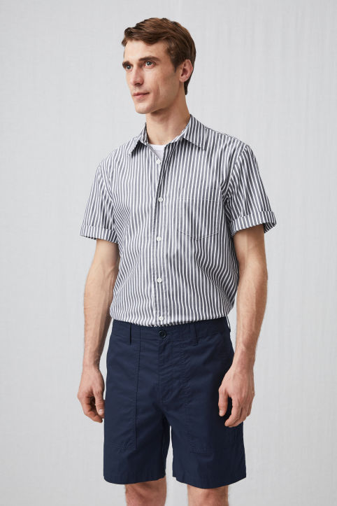 Short-Sleeve Pinpoint Shirt
