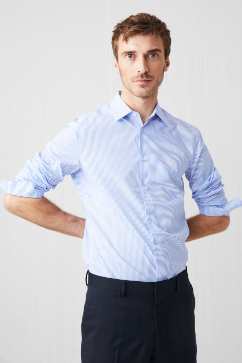 Banker Stripe Slim Shirt