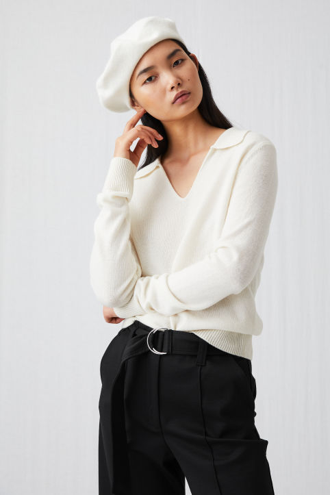Merino Open-Neck Jumper