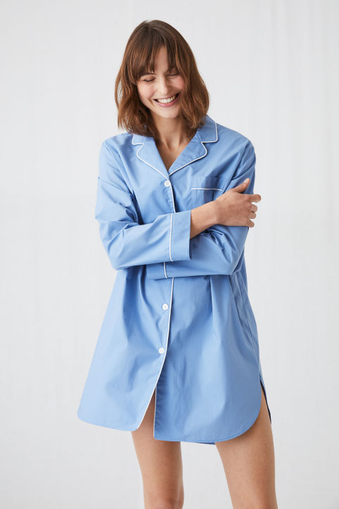 Chambray Night Shirt