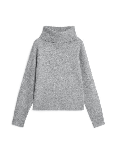 Cropped Roll-Neck Jumper