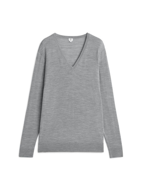 Merino Relaxed V-Neck Jumper