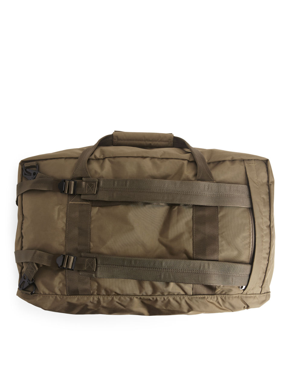 04b71ebaf9 Side image of Arket 72-hour 3-way duffle in brown ...