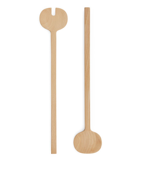Long Wood Serving Spoons