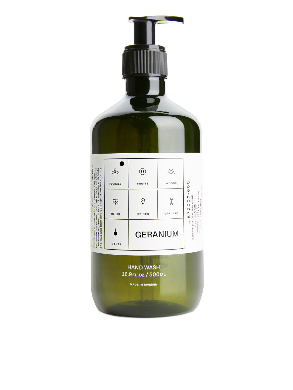 Front image of Arket hand wash, 500 ml in green