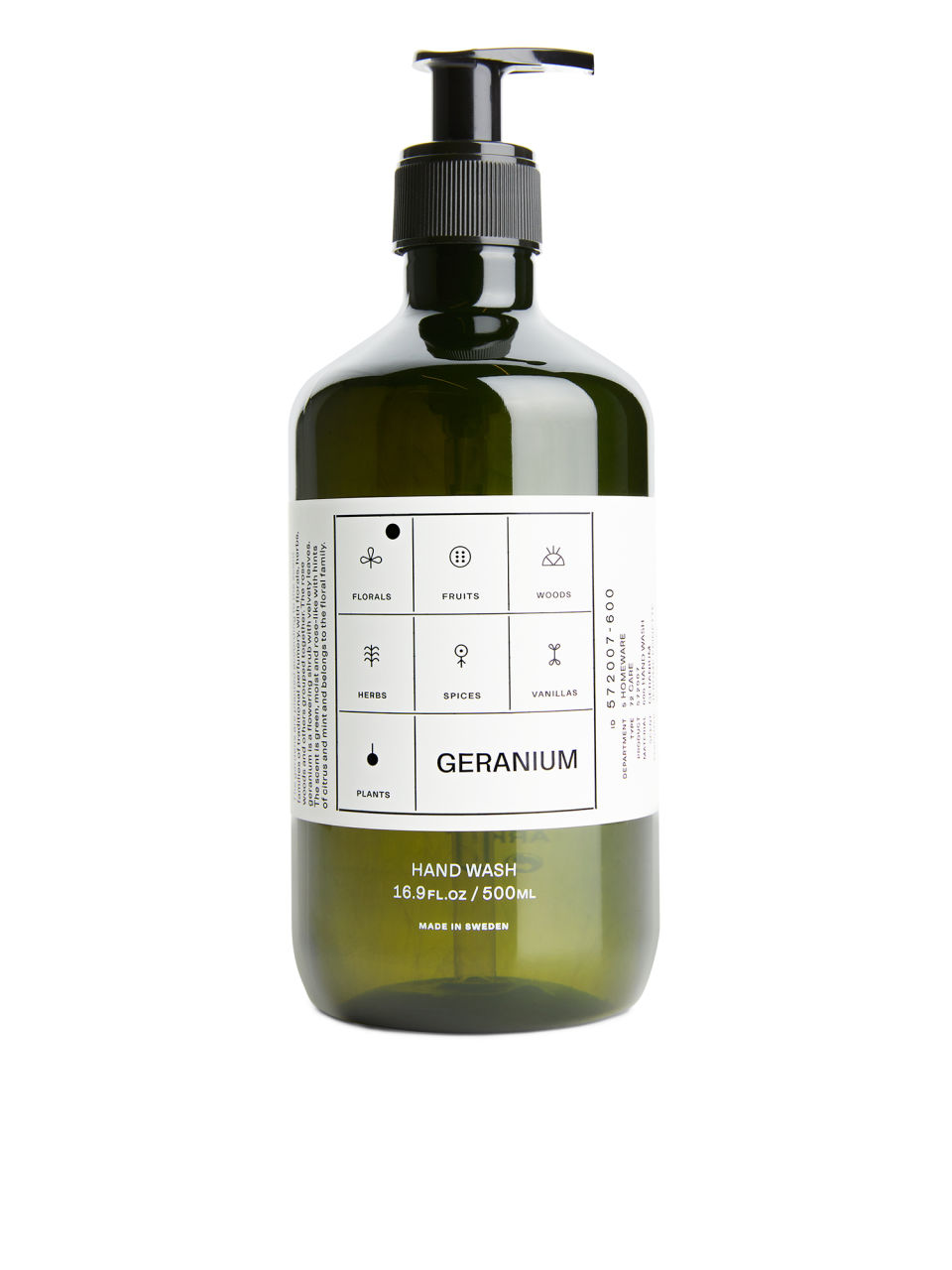 Side image of Arket hand wash, 500 ml in green